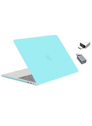 """Mcstorey Yeni MacBook Pro Touchbarlı A1706 A1708 A1989 A2159 13.3"""" Kılıf Kapak Hard case Mat Turkuaz"""